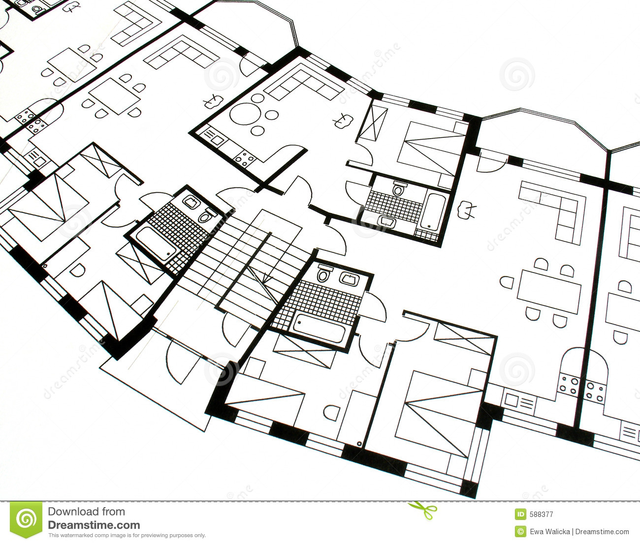 Architectural plan royalty free stock photography image for Architecture plan