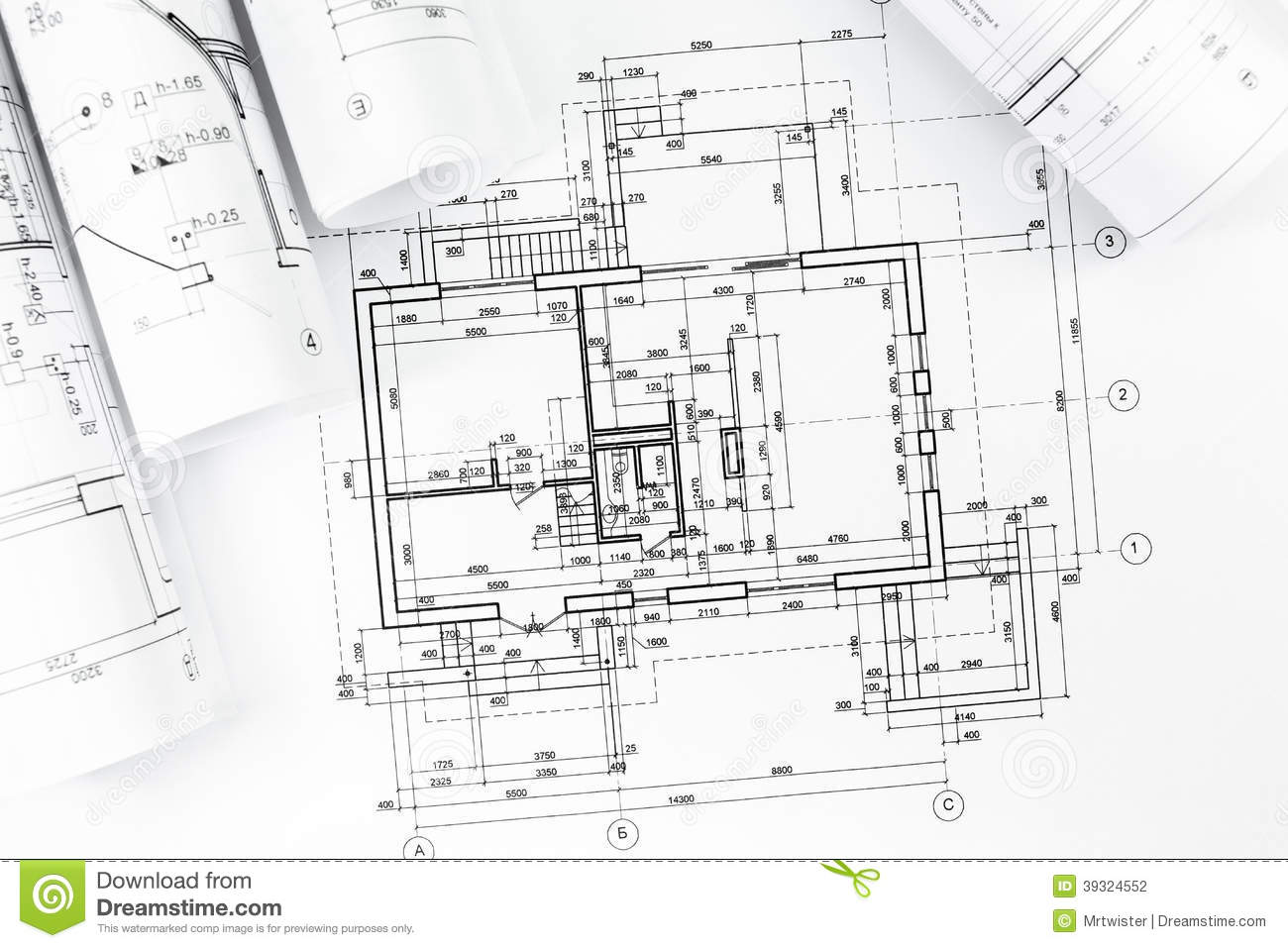 Architectural Plan Drawings Stock Photo Image Of Engineering