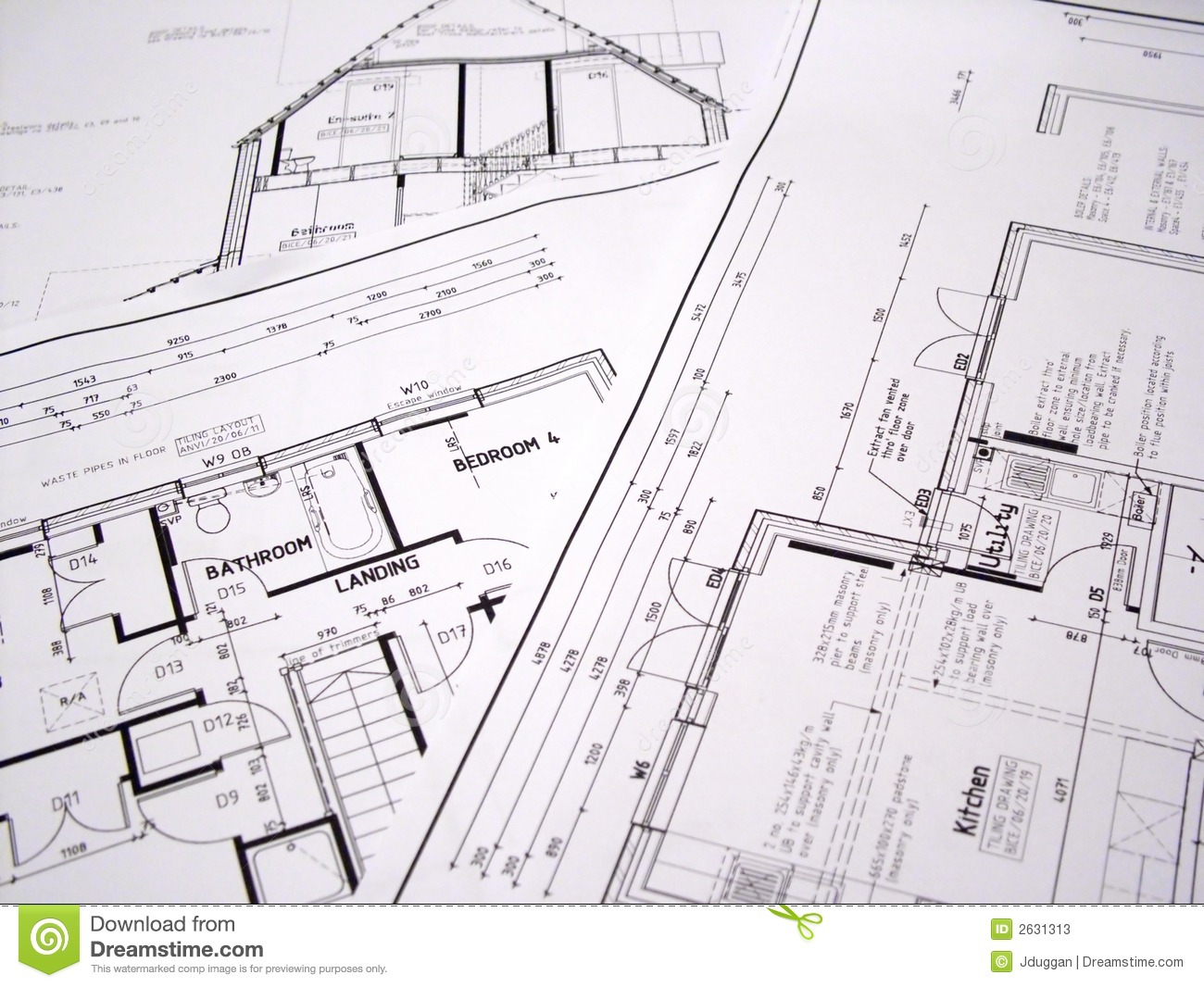 architectural plans stock photos image 2631313