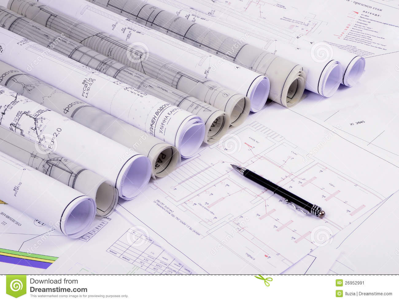Architectural plans stock image image of blue architect 26952991 architectural plans malvernweather Images