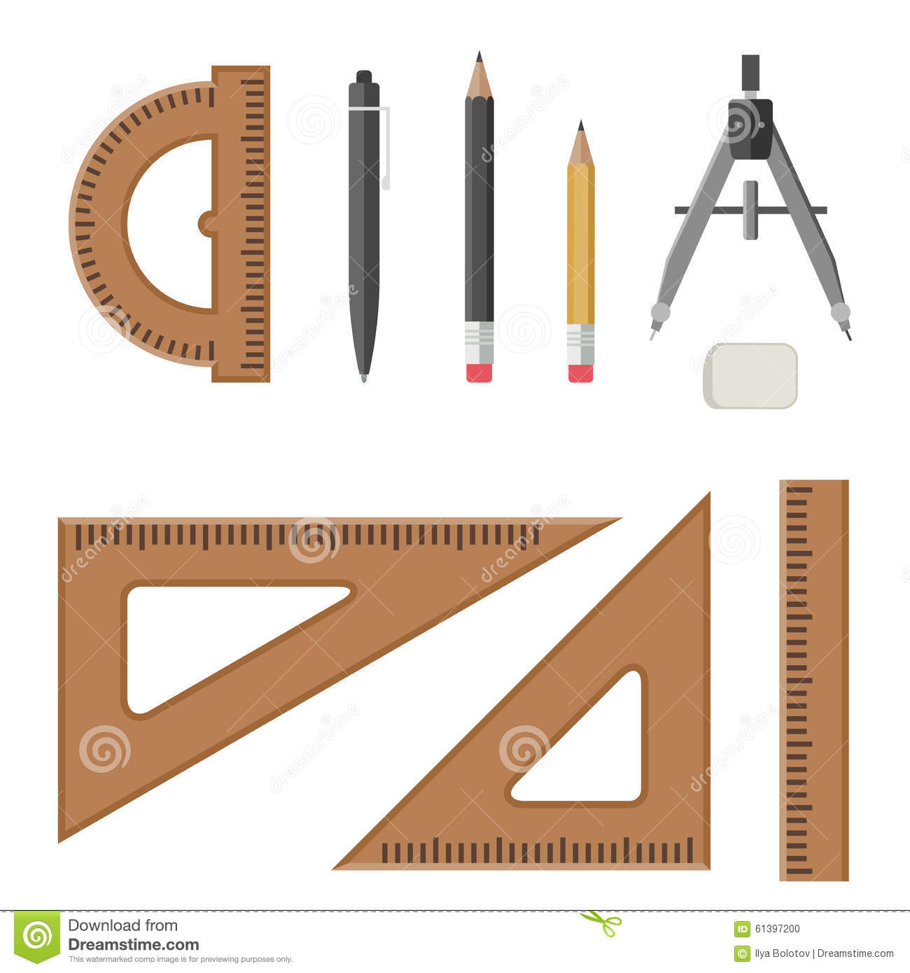 Architectural Professional Equipment Stock Vector Image