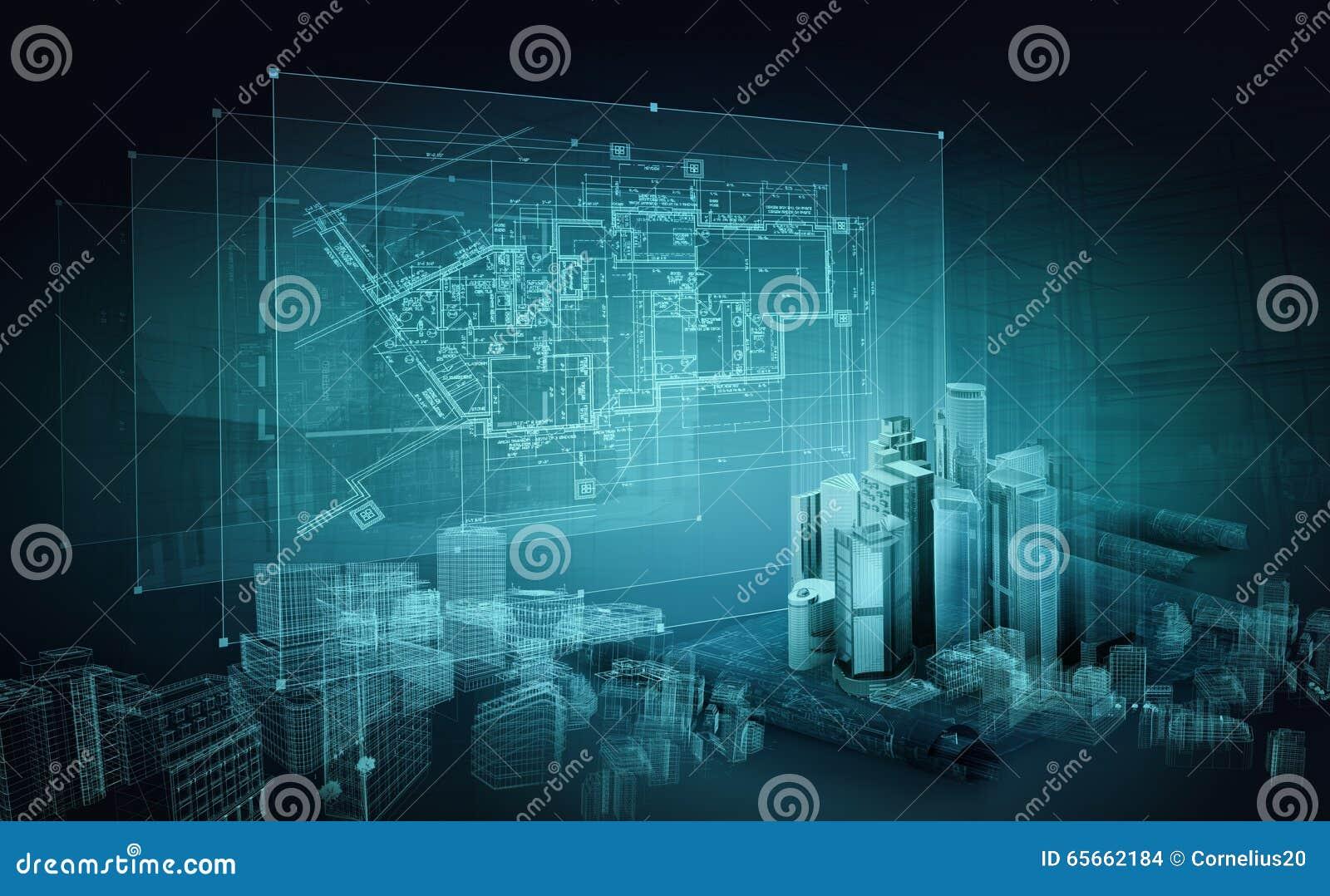 Architectural Project Construction Plan Blueprint