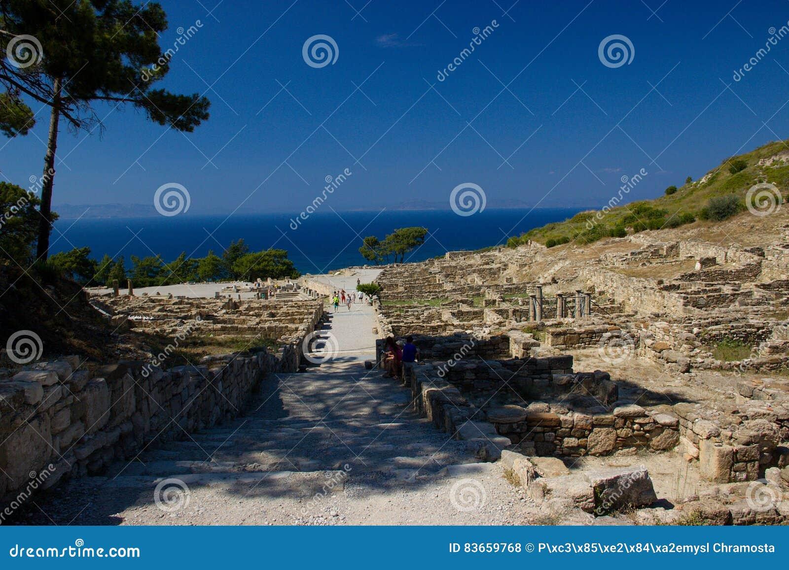 Architecture antique de Kamiros Rhodos Grèce historique
