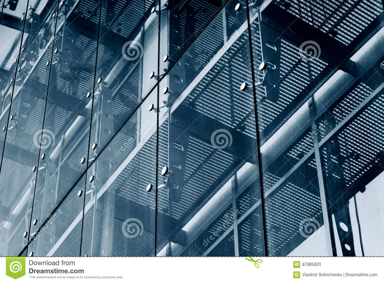 Architecture Background Glass Facade System Stock Photo