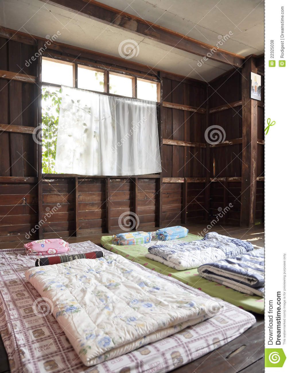 Architecture Bed House Room Local Interior Stock Photo Image Of Bright Plank 22325038