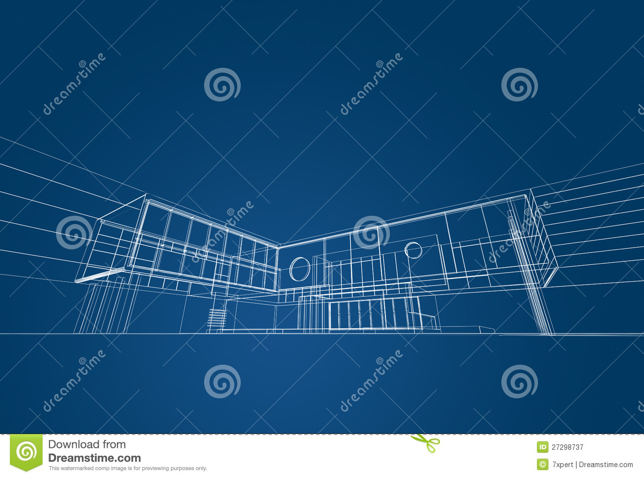 Architecture Blueprint Royalty Free Stock Photography