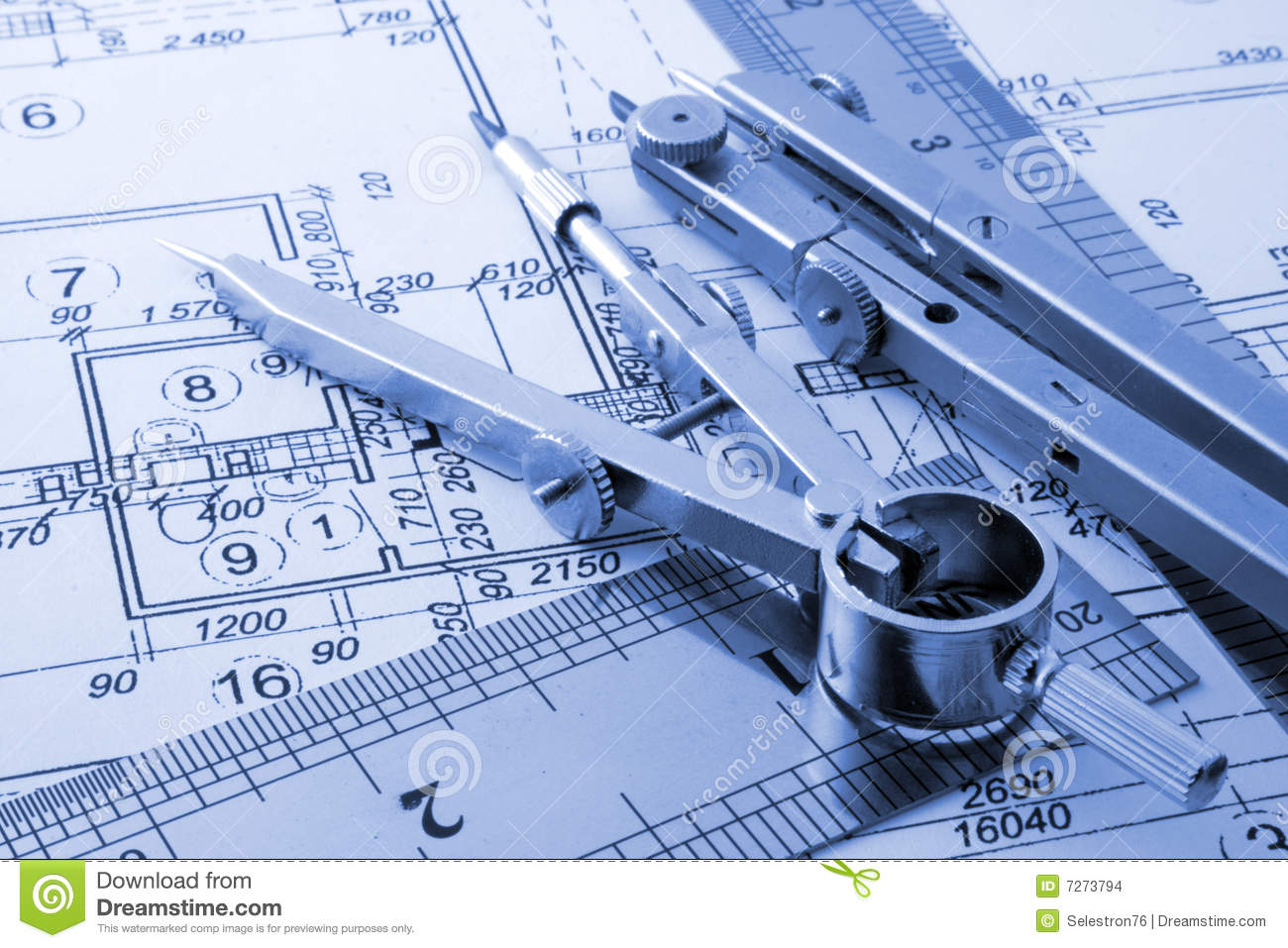 Architecture blueprint stock images image 7273794 for Architecture blueprints