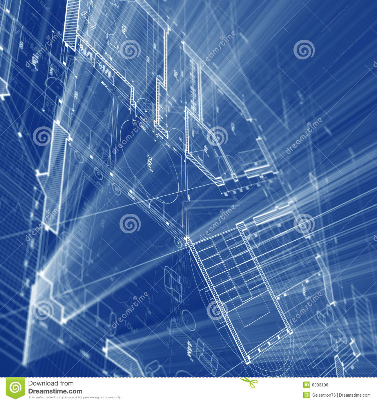 Architecture blueprint stock illustration image of for Print architectural plans