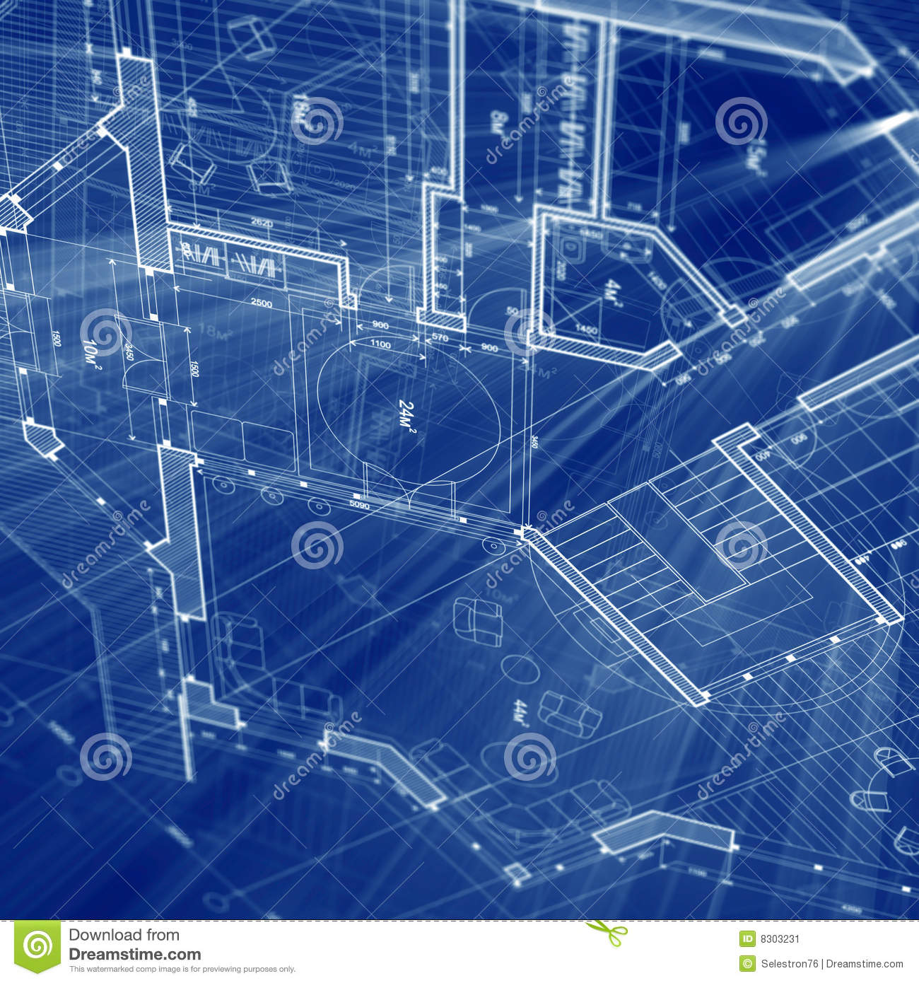 Architecture Blueprint Stock Image Image 8303231