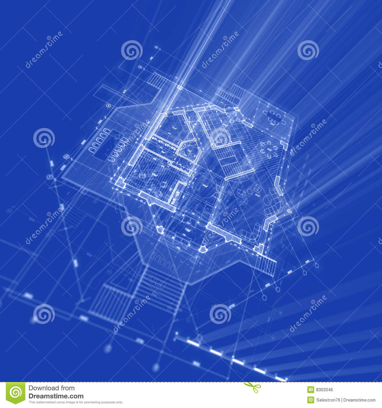 Architecture Blueprint Stock Illustration Image Of Estate