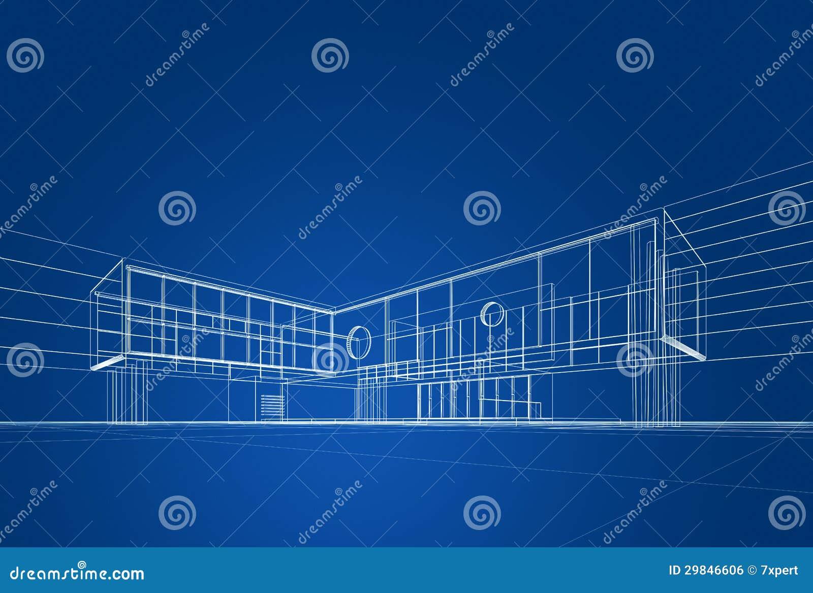 Architecture Blueprint Royalty Free Stock Image Image