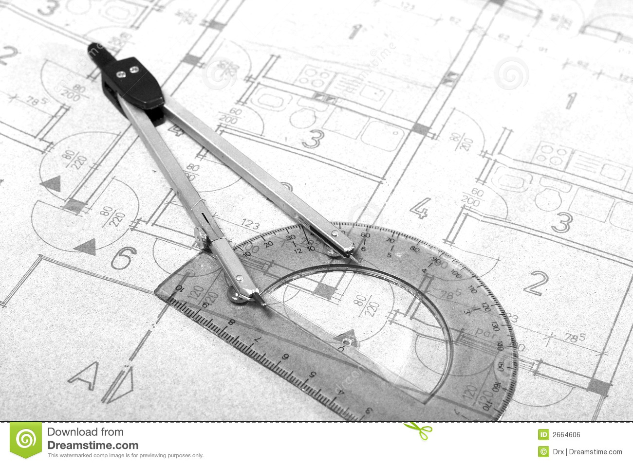 Architecture blueprint drawing stock photo image of design hand architecture blueprint drawing malvernweather Gallery