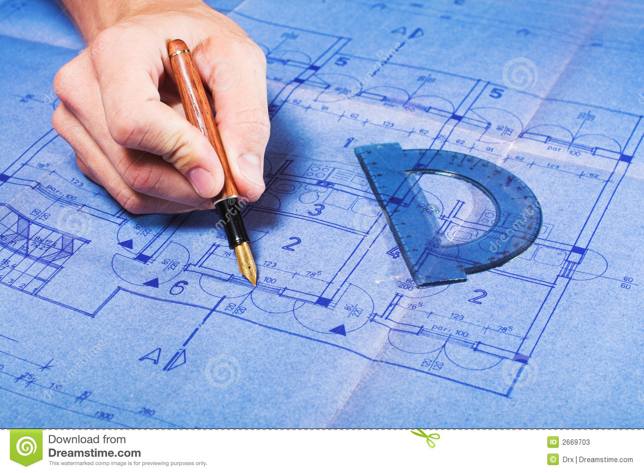 Architecture blueprint drawing stock photos image 2669703 for How to draw blueprints online