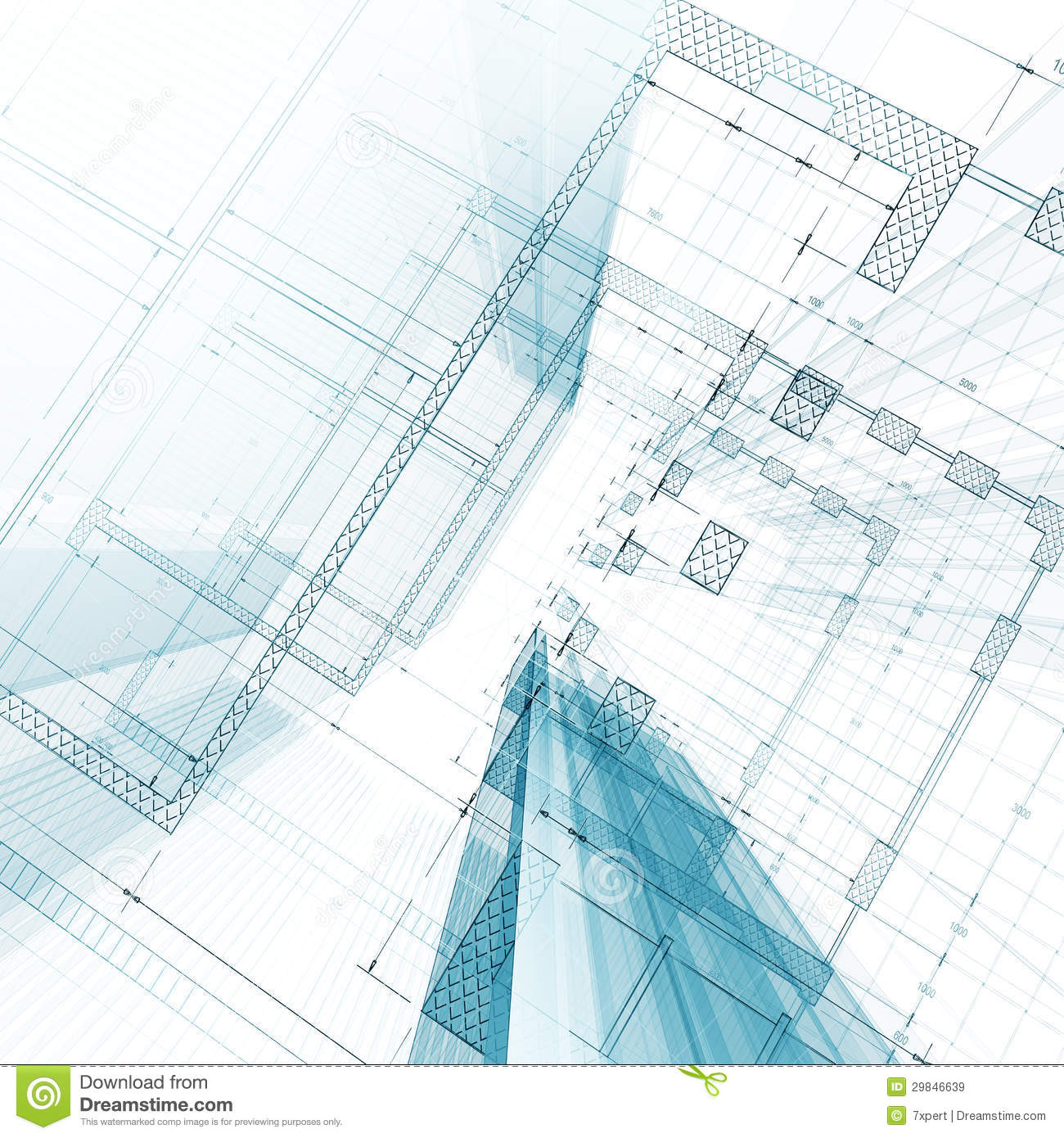 Architecture blueprint stock illustration illustration of for Architecture blueprint