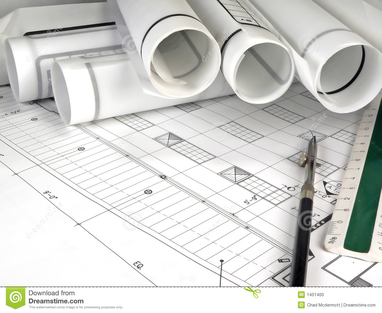 Architecture blueprints stock photo image 1401400 for Architecture design blueprint