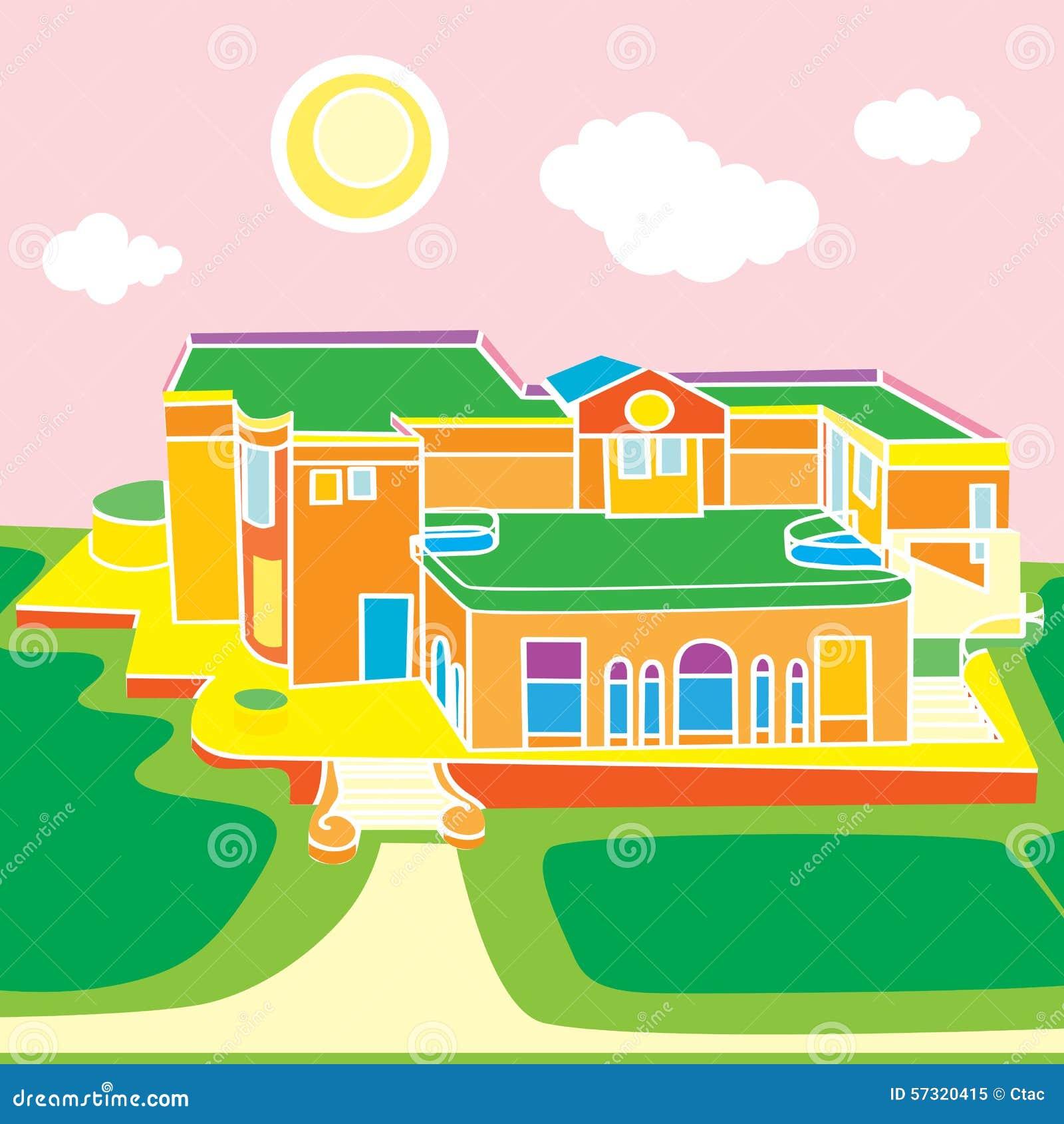 Architecture Cartoon Stock Vector Illustration Of Illustration