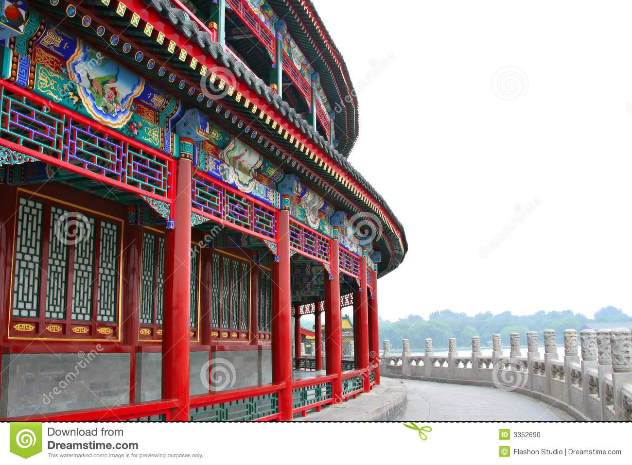 Architecture chinoise antique photo stock image 3352690 for Architecture antique