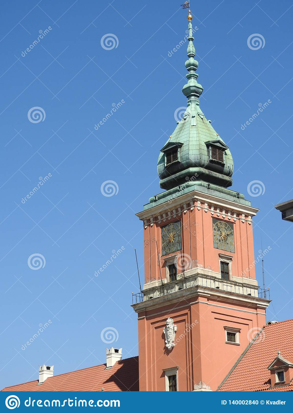 The architecture of the city of Warsaw in Poland