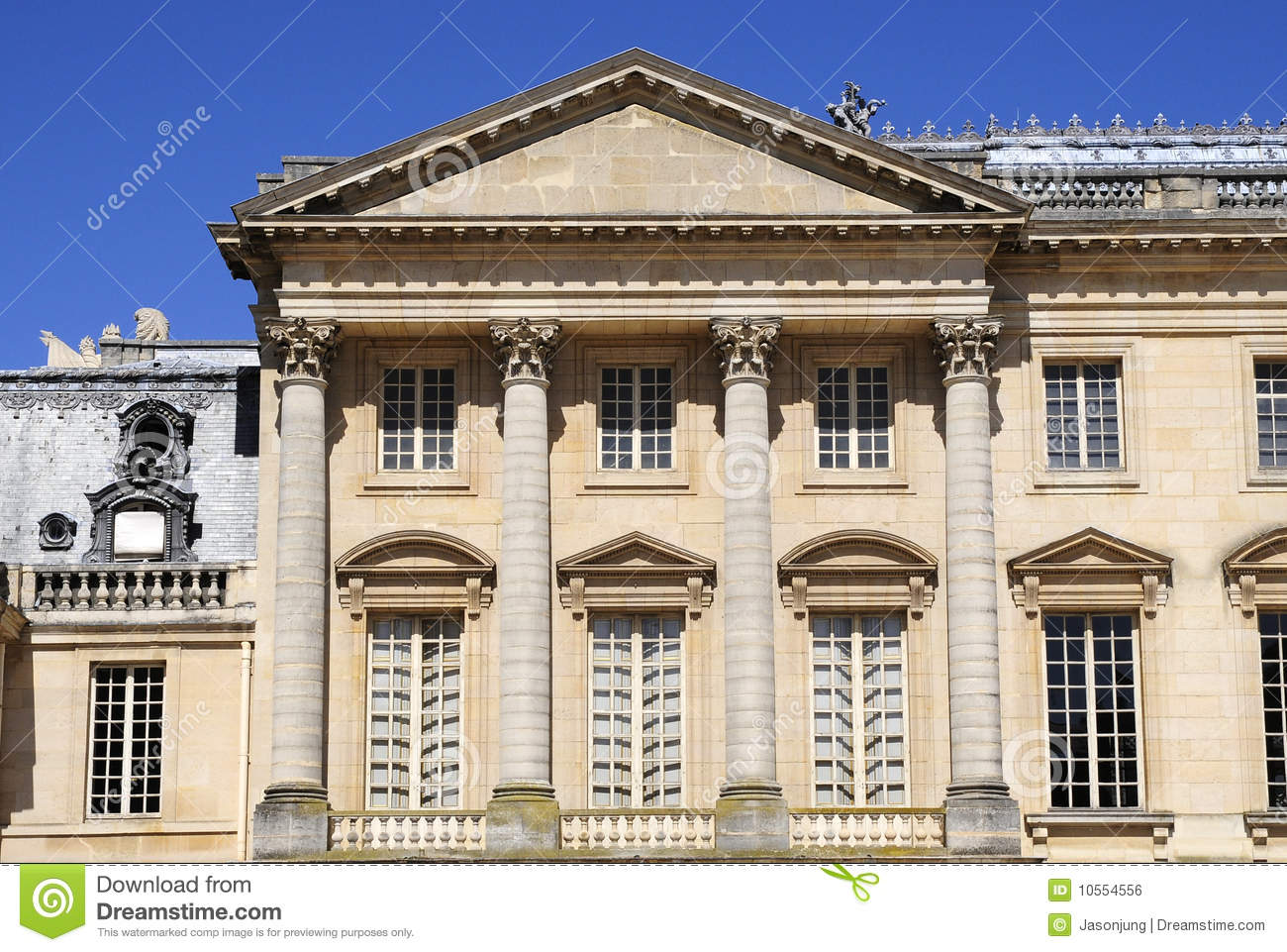 architecture of classical building stock photo