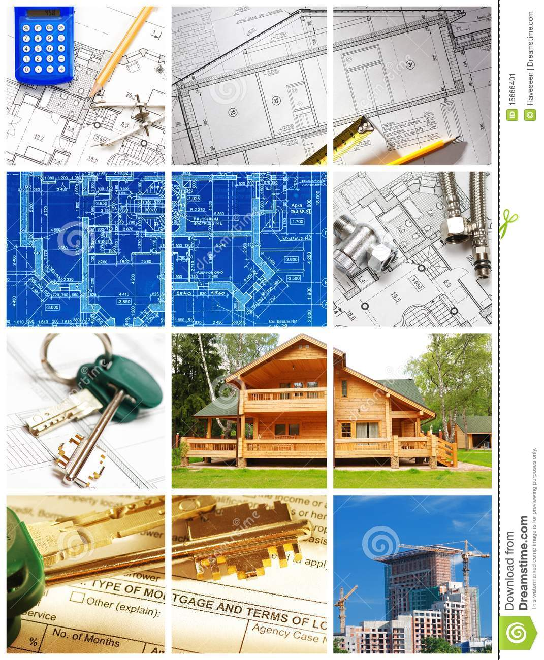 Architecture Collage Stock Image Of Document