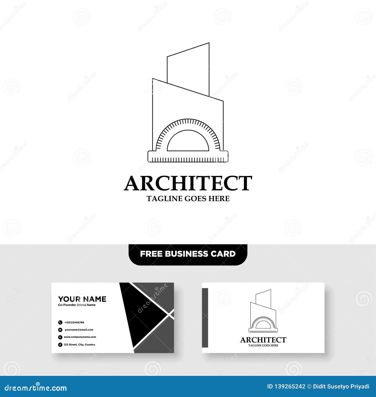 Architecture Company Construction Architect Vector Logo