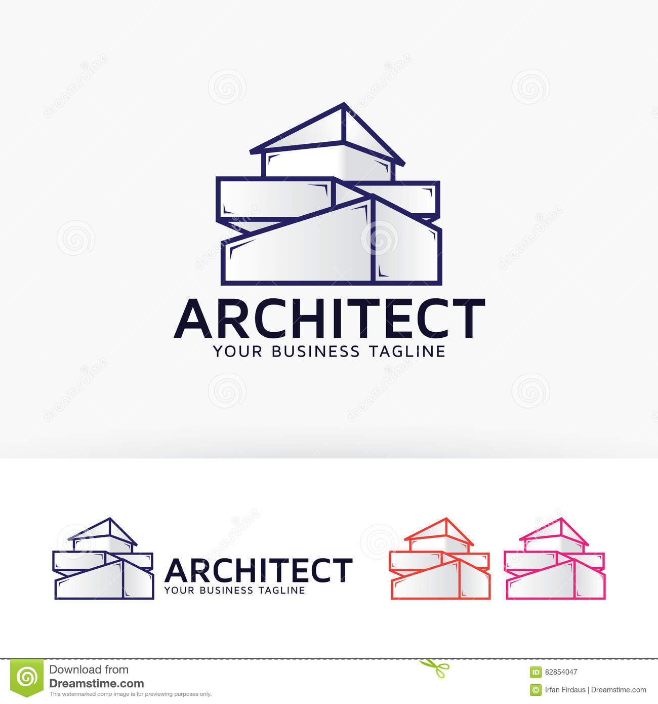 Architecture Company Logo Design Stock Vector Image