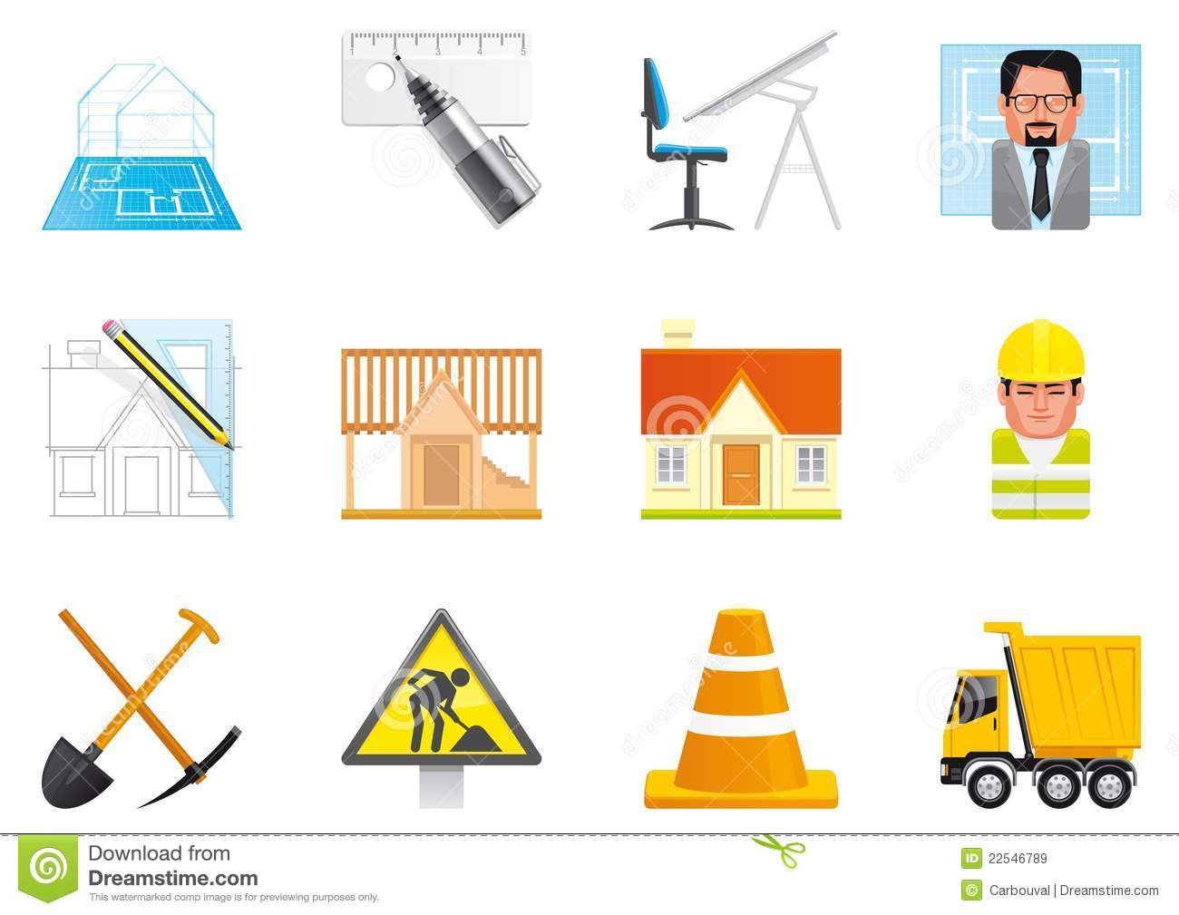 architecture and construction icons royalty stock images architecture and construction icons
