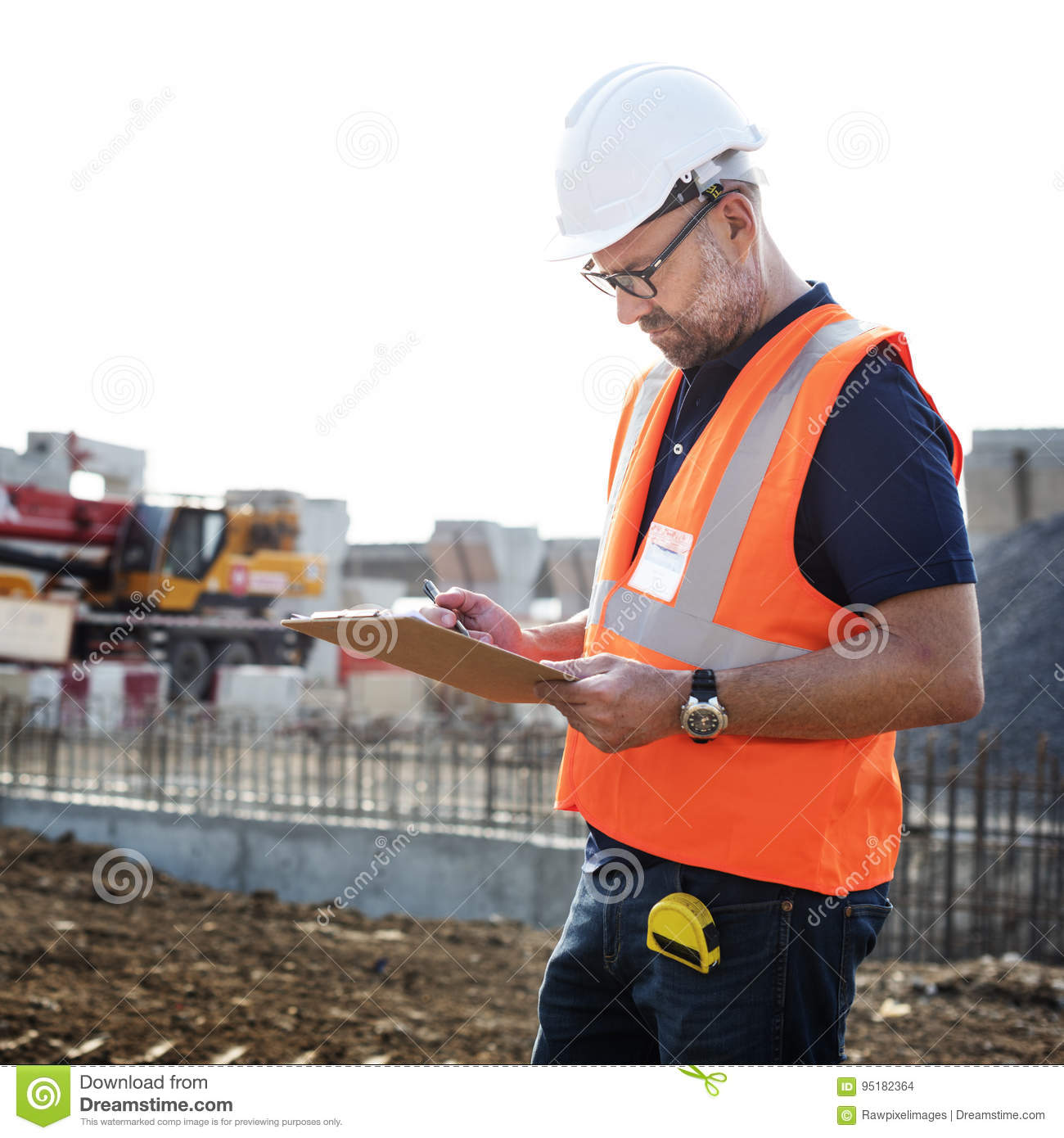 Architecture Construction Safety First Career Concept