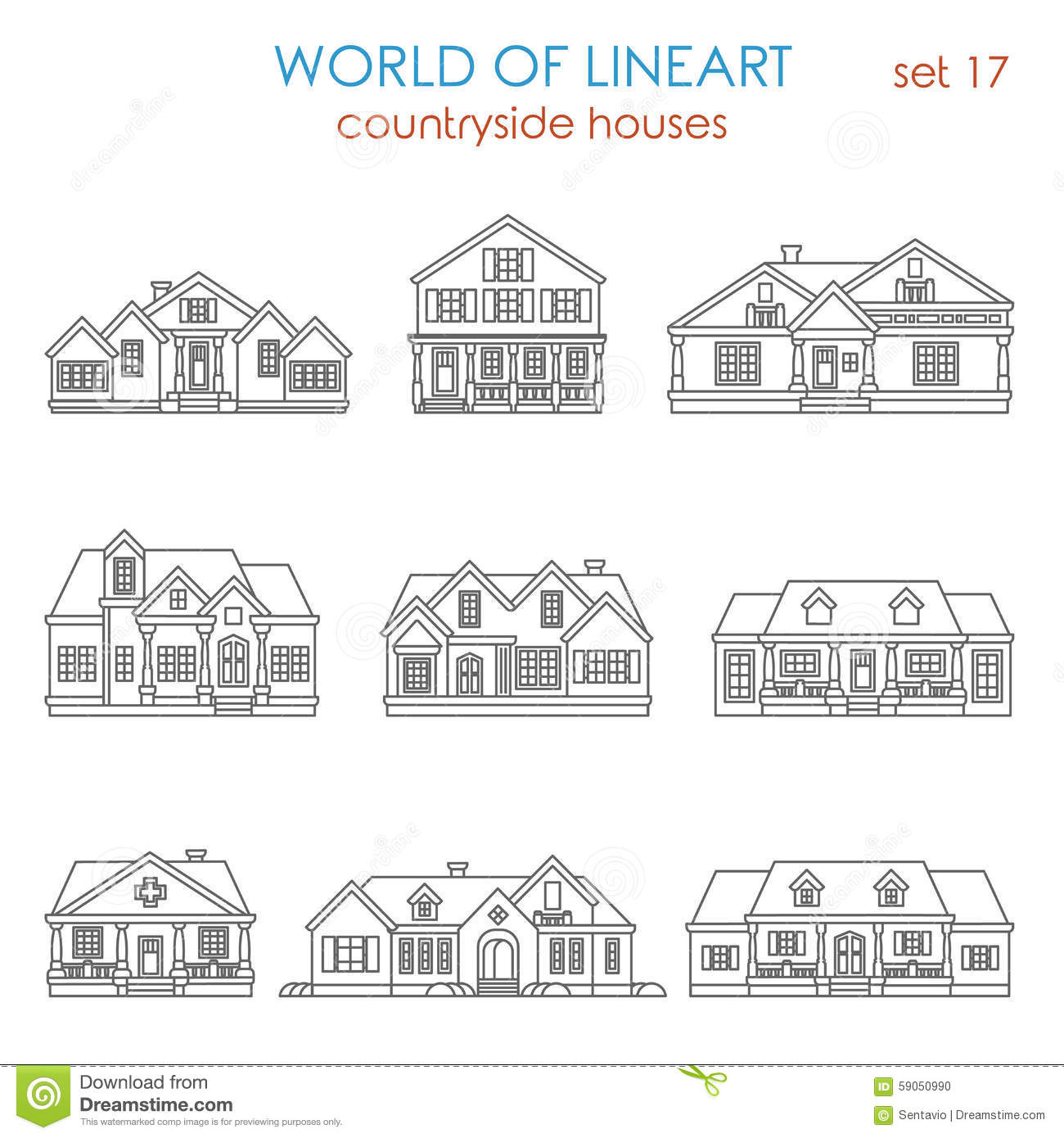 Modern Houses Coloring Pages