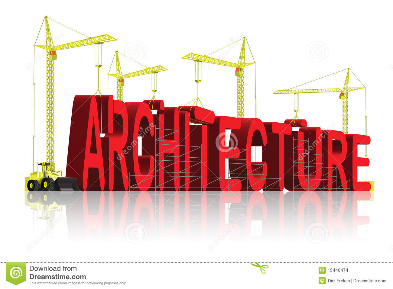 Architecture Creative Building Blueprint Architect Stock