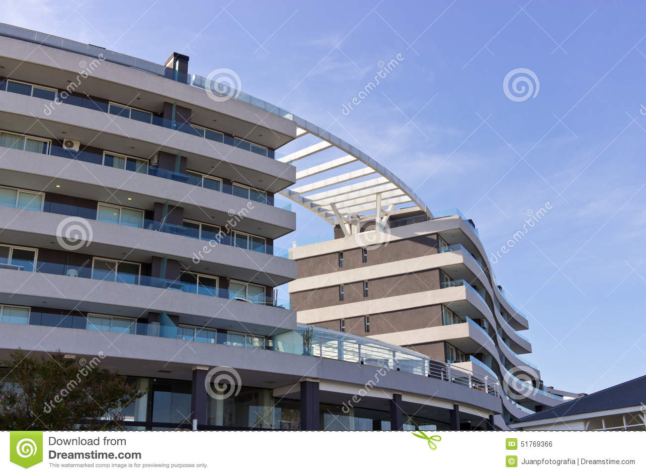 Architecture Curved Building Stock Photo - Image: 51769366