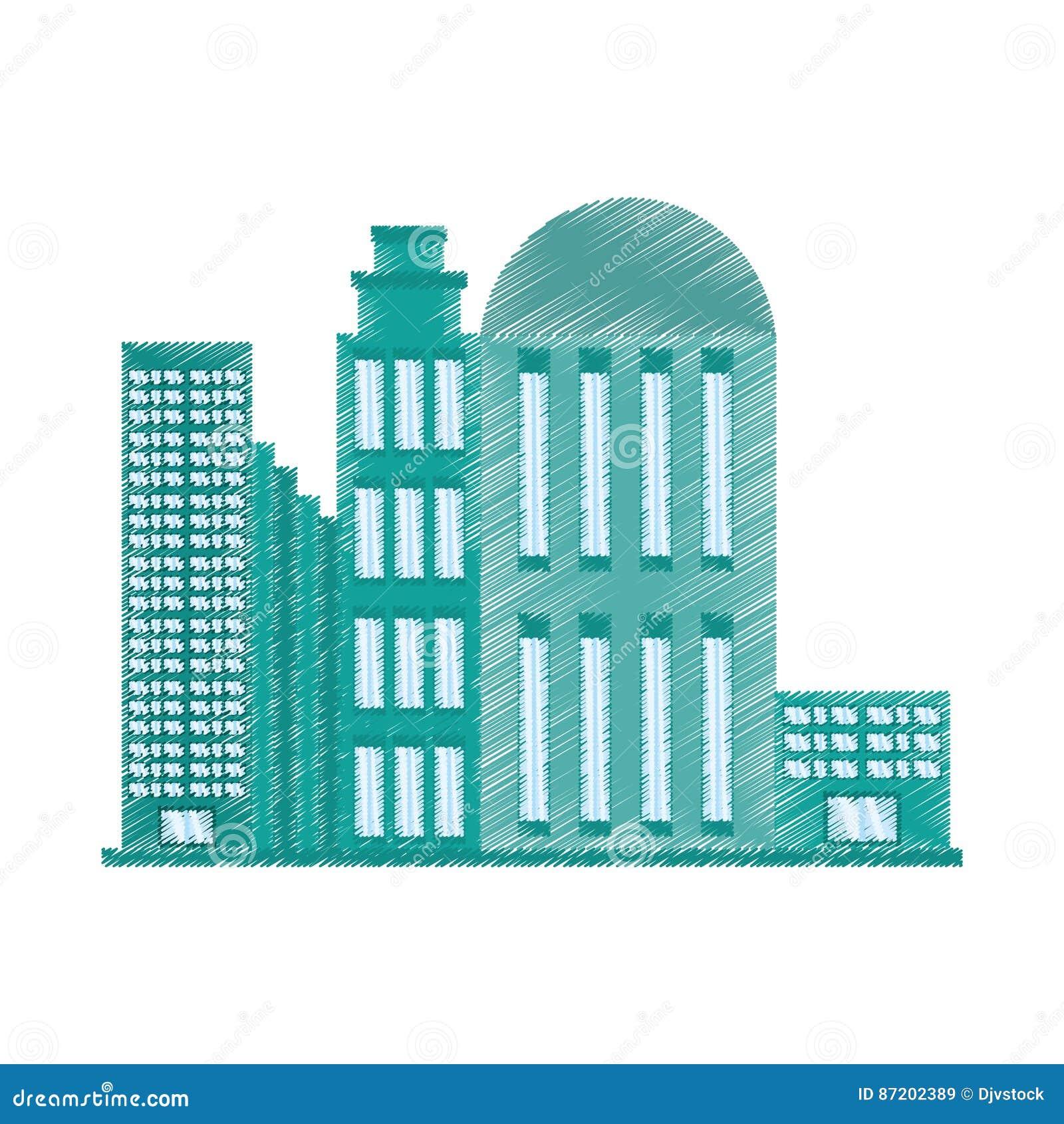 Architecture De Bâtiment De Dessin Moderne Illustration ...