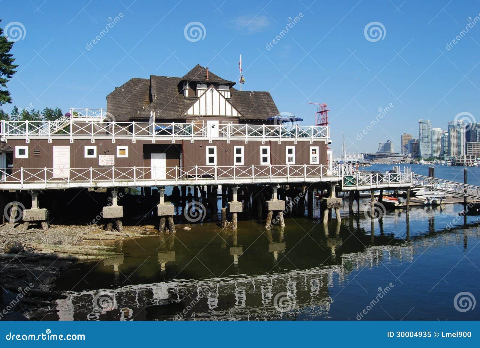 architecture de bord de mer de vancouver image éditorial - image du