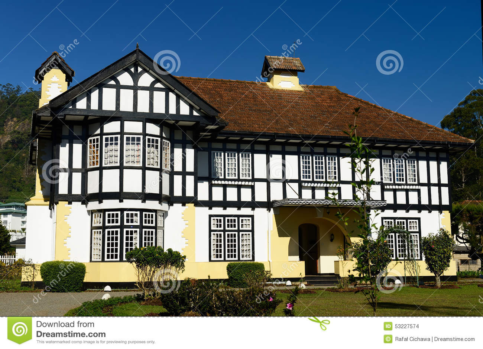 architecture de colonial de sri lanka photo stock image du britannique architecture 53227574. Black Bedroom Furniture Sets. Home Design Ideas