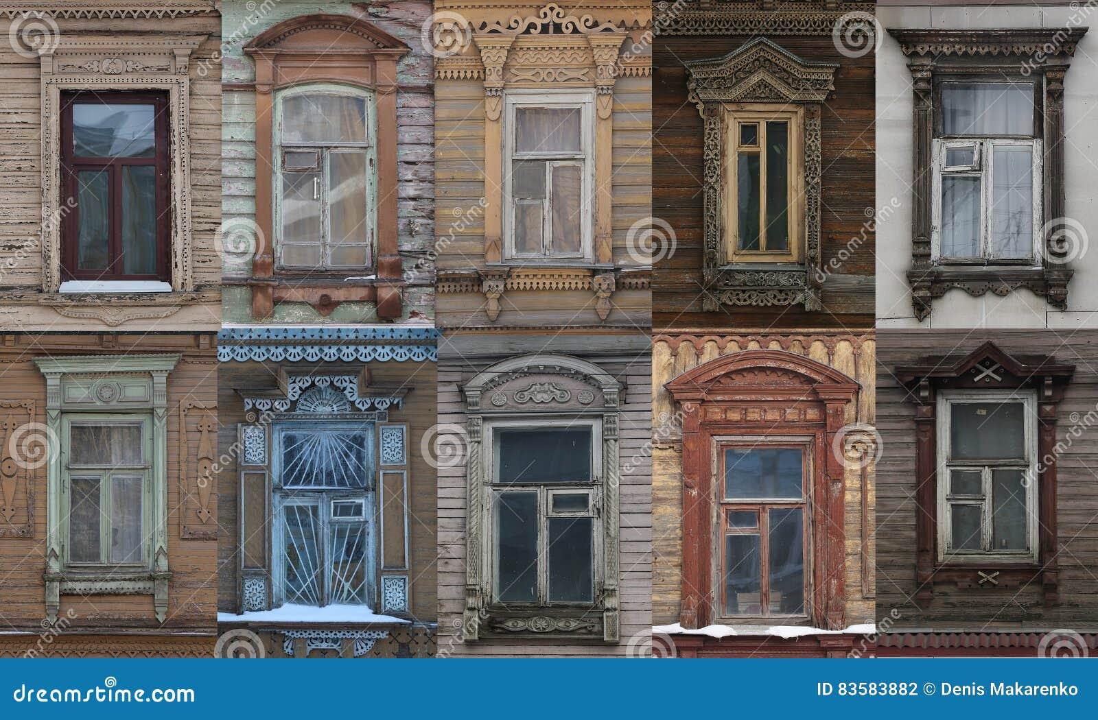 Architecture de dentelle en bois de vieilles maisons en bois en Russie