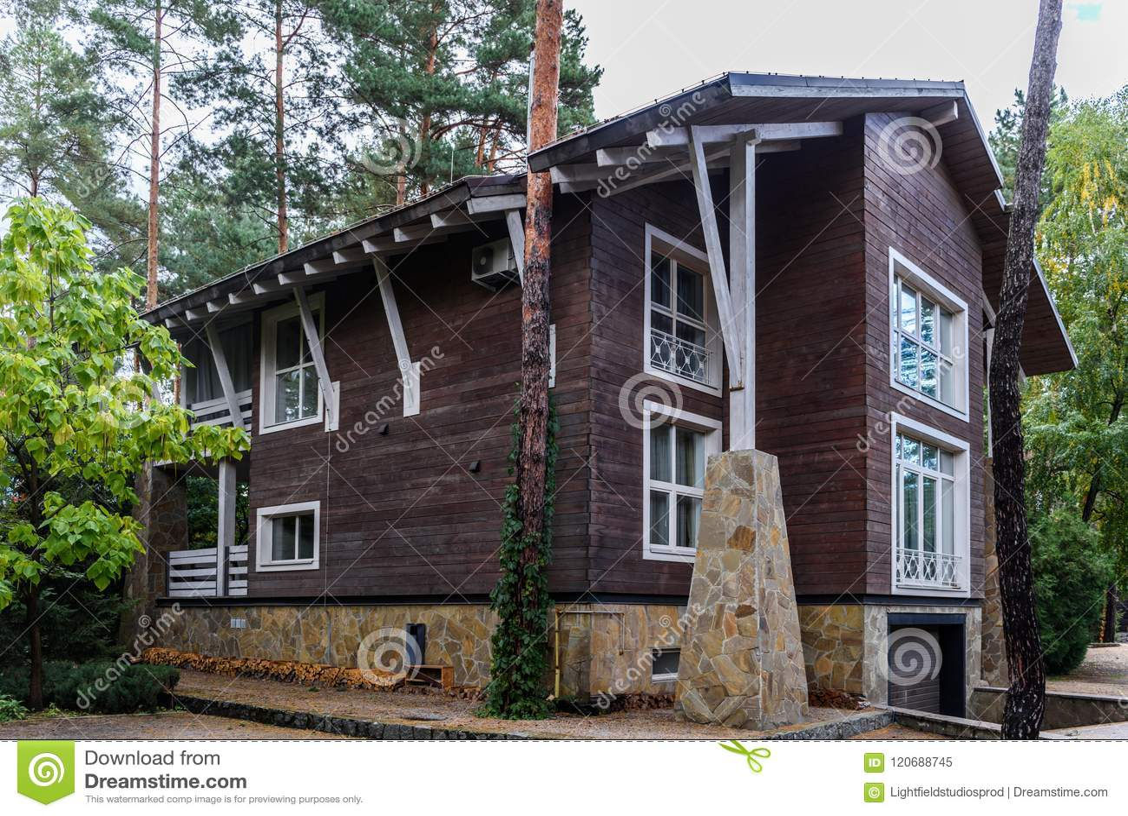 Architecture De Maison De Campagne Moderne Image stock ...