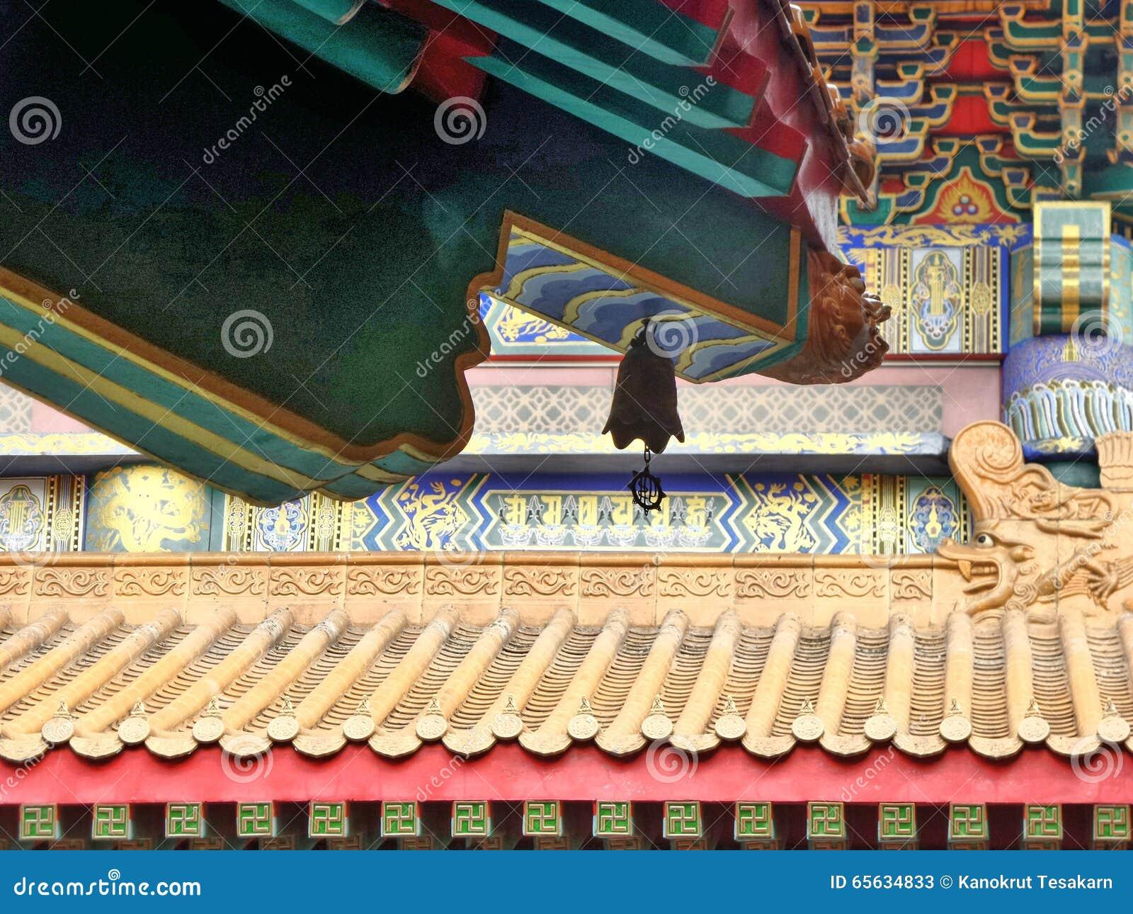 Architecture de style chinois de Dragon Temple