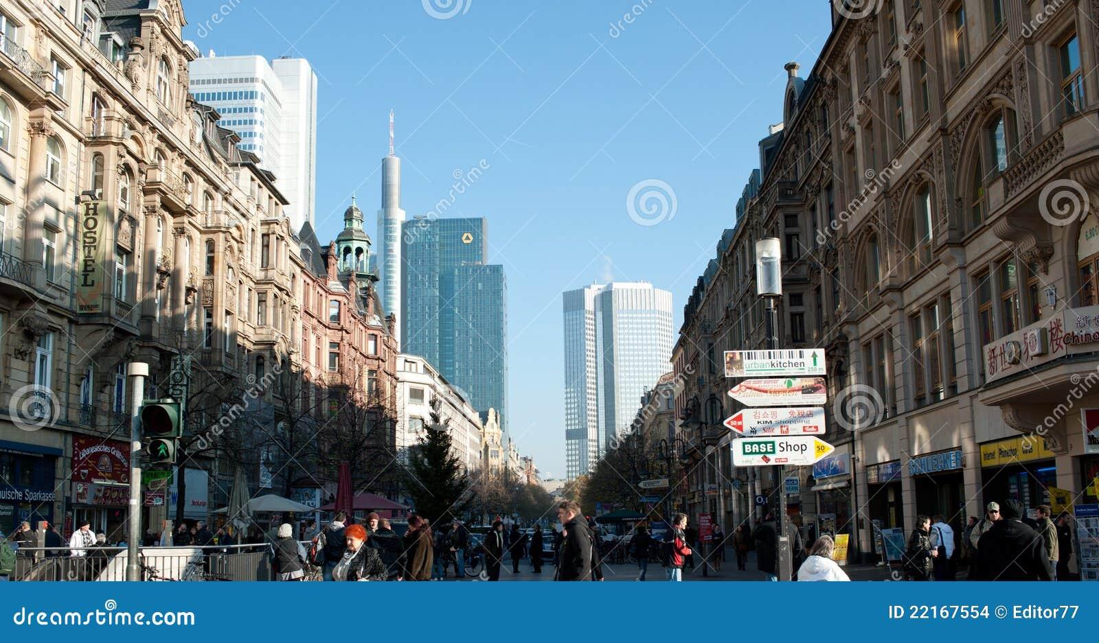 Architecture de ville de francfort paysage urbain image for Paysage de ville