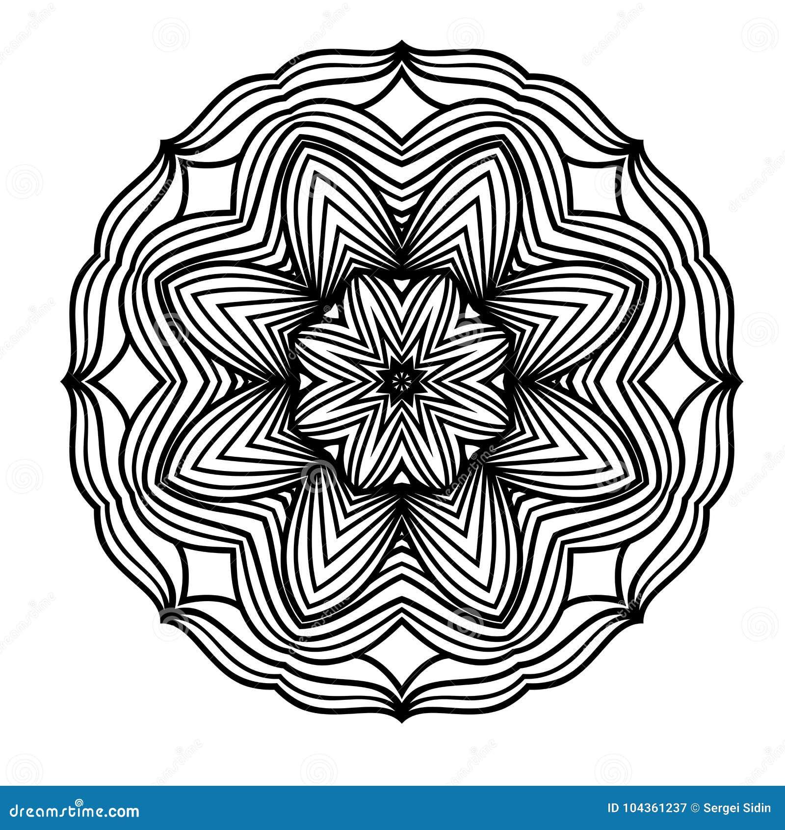 Creative Ornament Design. Black And White Mandala. Hand Drawn ...
