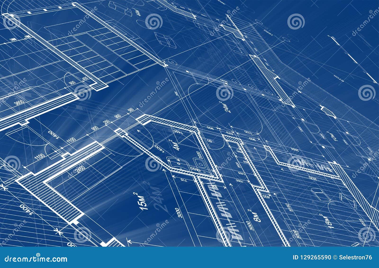 Architecture design: blueprint plan - illustration of a plan