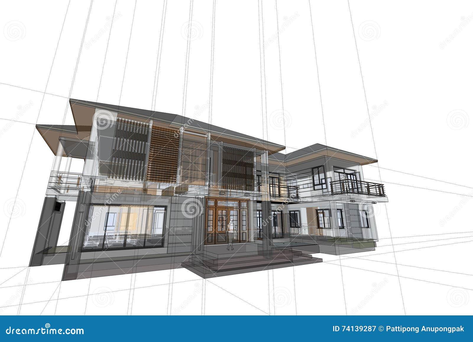 Architecture Dessinant L\'illustration Moderne De La Maison ...