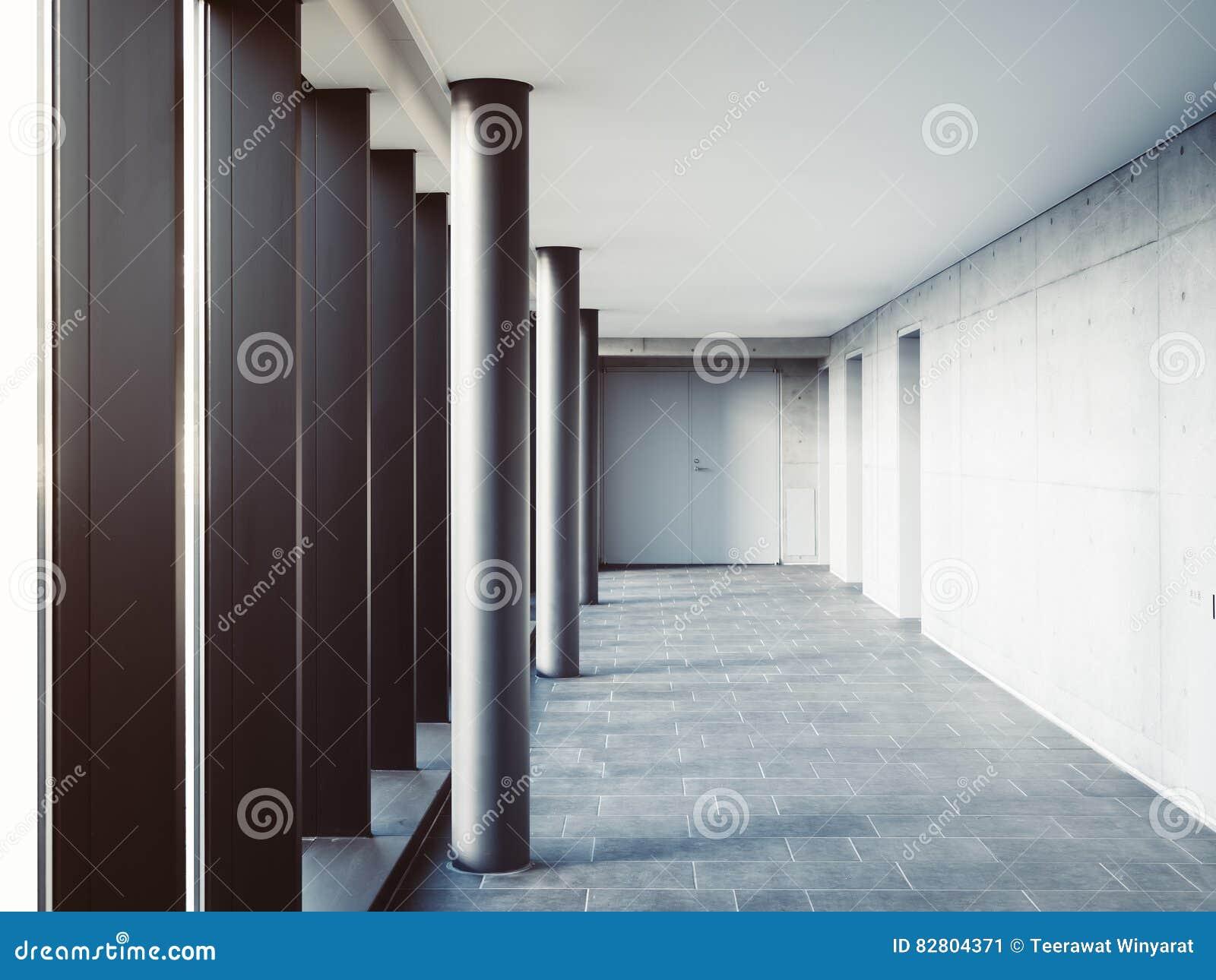 Beautiful Modern Architecture Column Detail Columns Building Minimal Space Stock Photo Inside Design Decorating