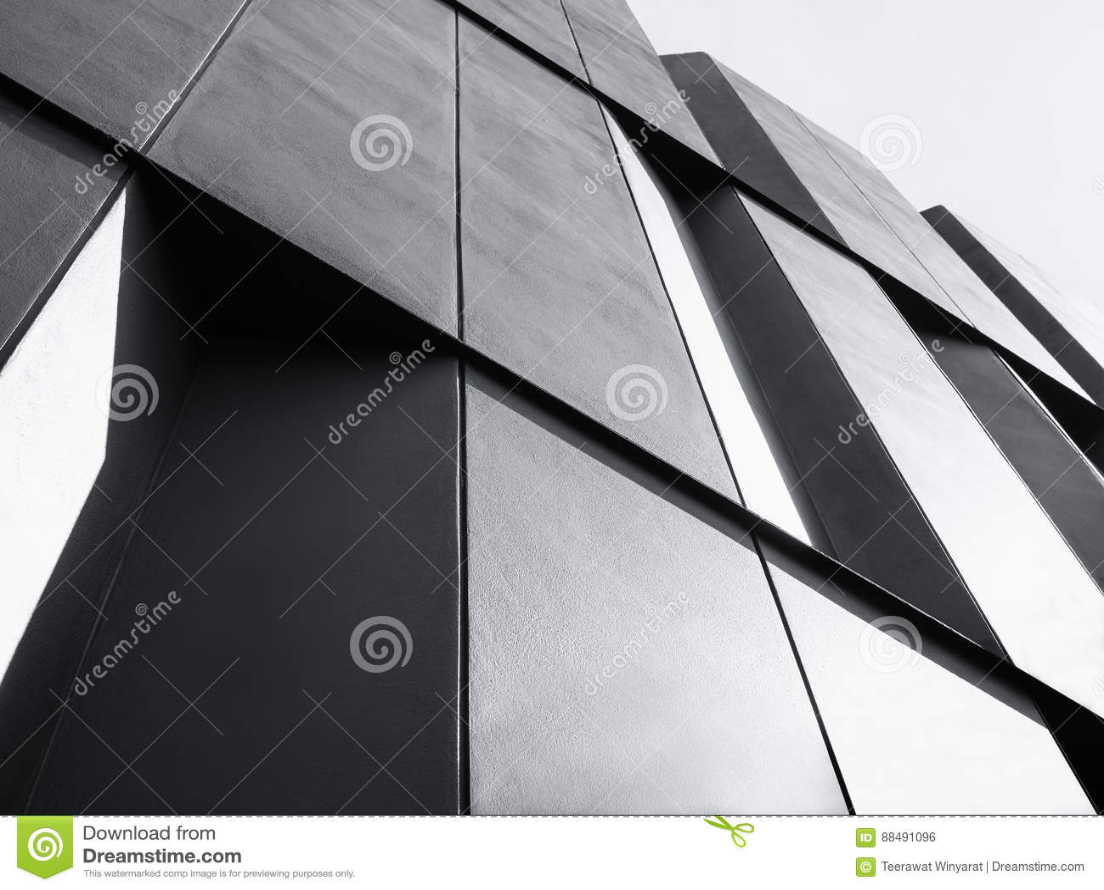 Modern Contemporary Architecture Facade Stock Image