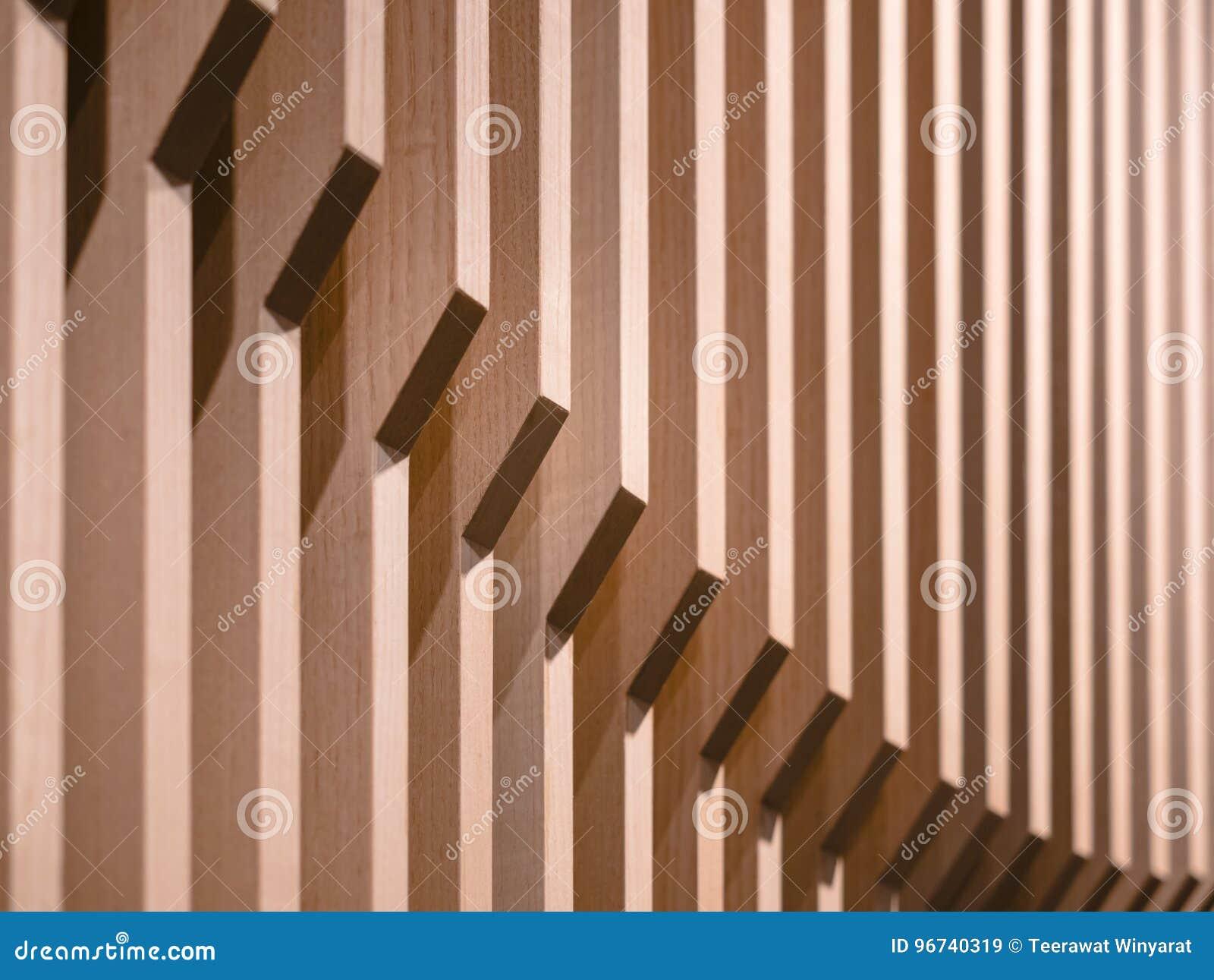 Architecture details Wooden wall pattern design