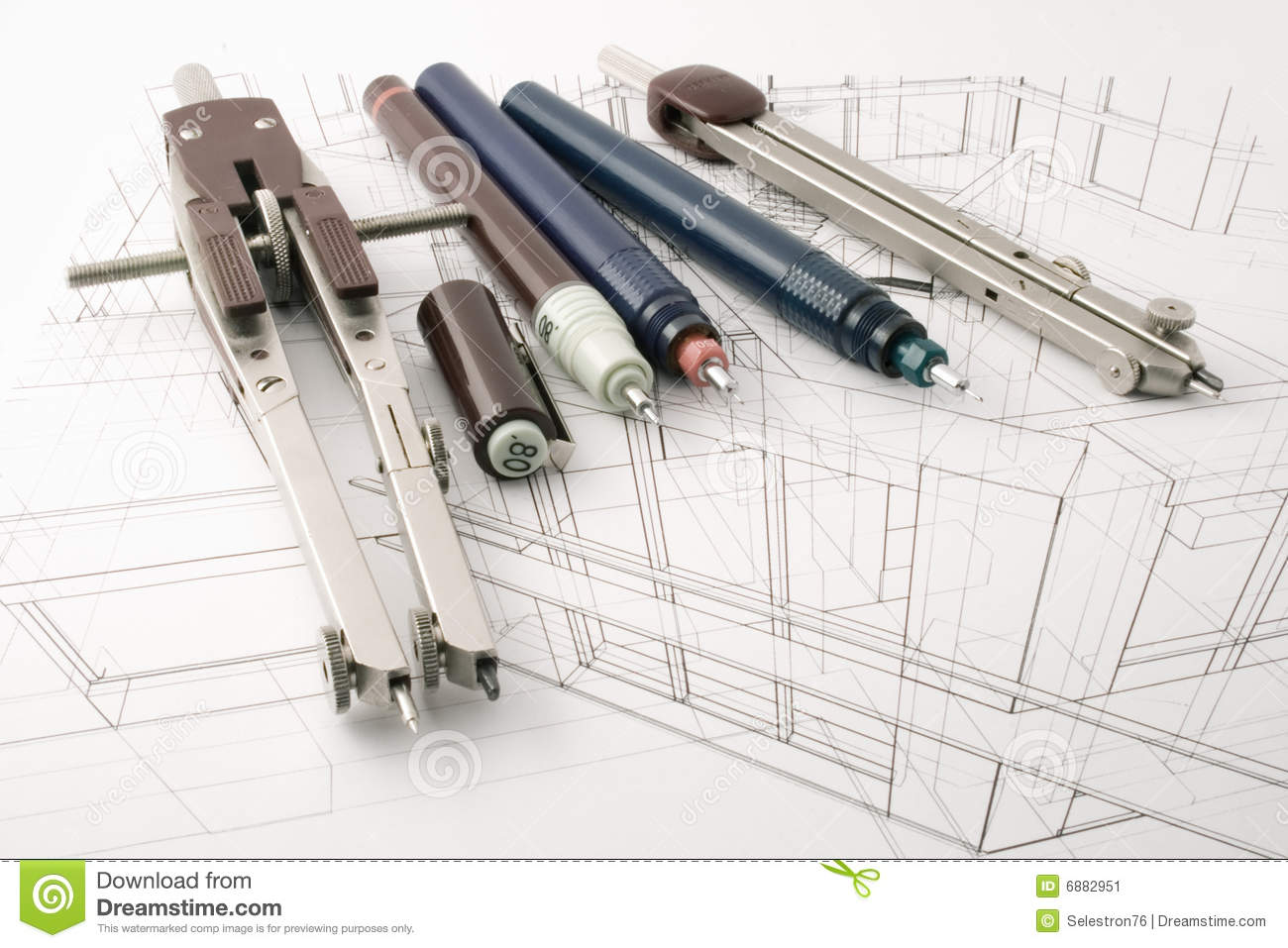 Architecture draw stock image