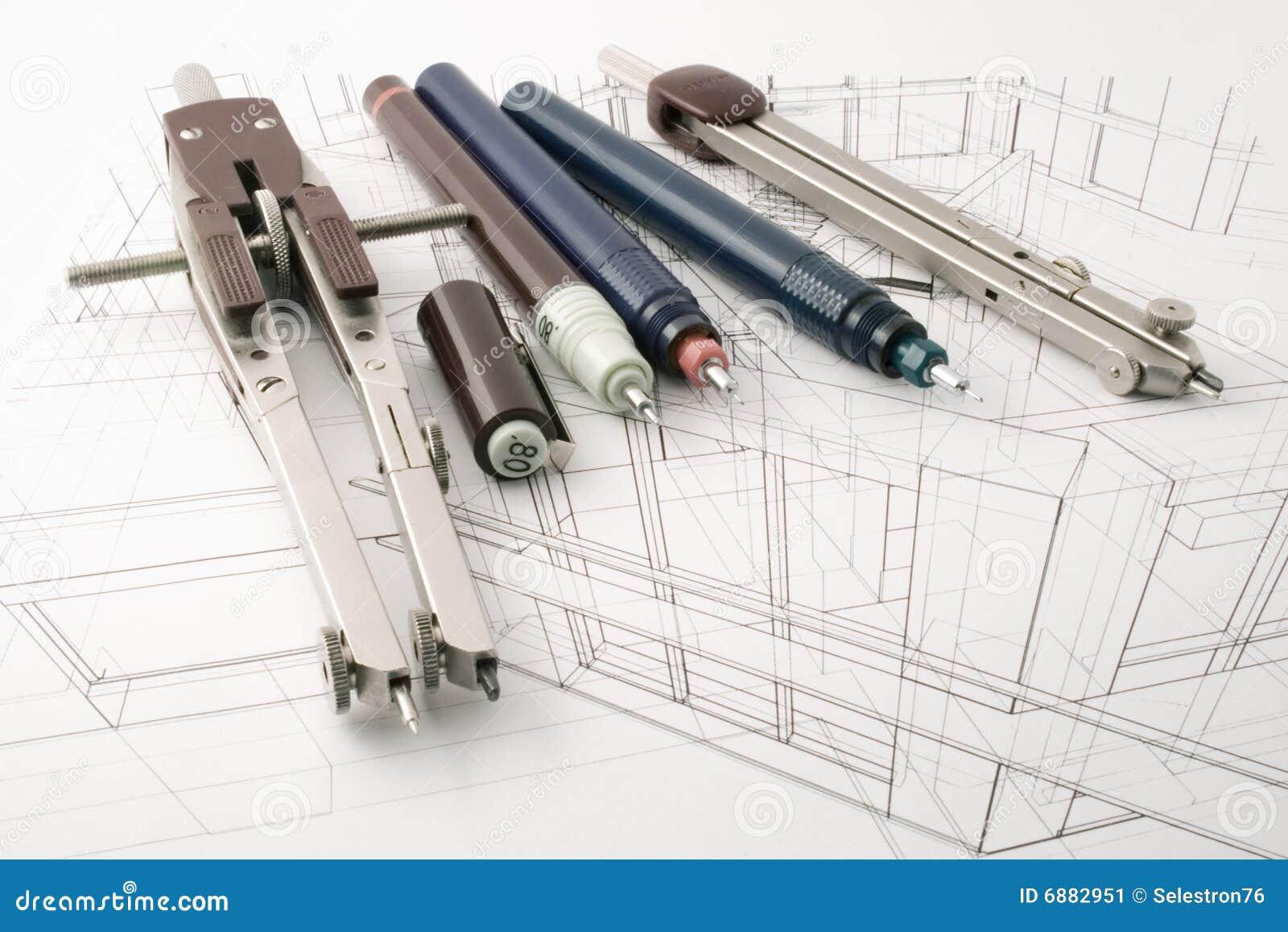 Architecture Draw Stock Image Image 6882951