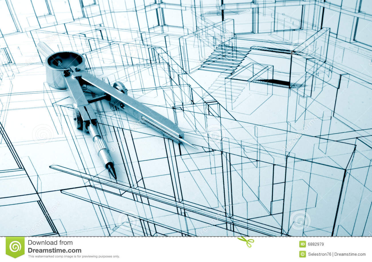 Architecture draw stock image image of interior for Online architecture design
