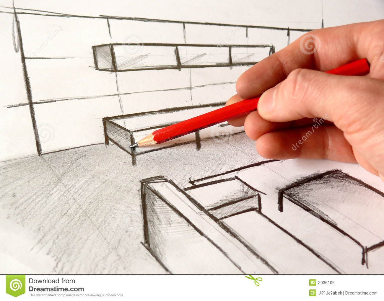 Architecture drawing stock photo image of drafting for Free online architecture design