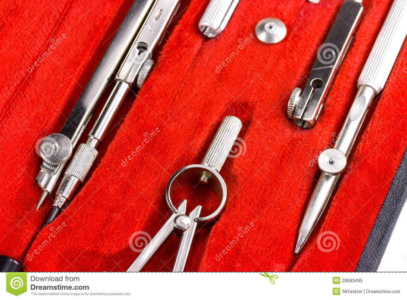 Architecture Drawing Tools Royalty Free Stock Photo