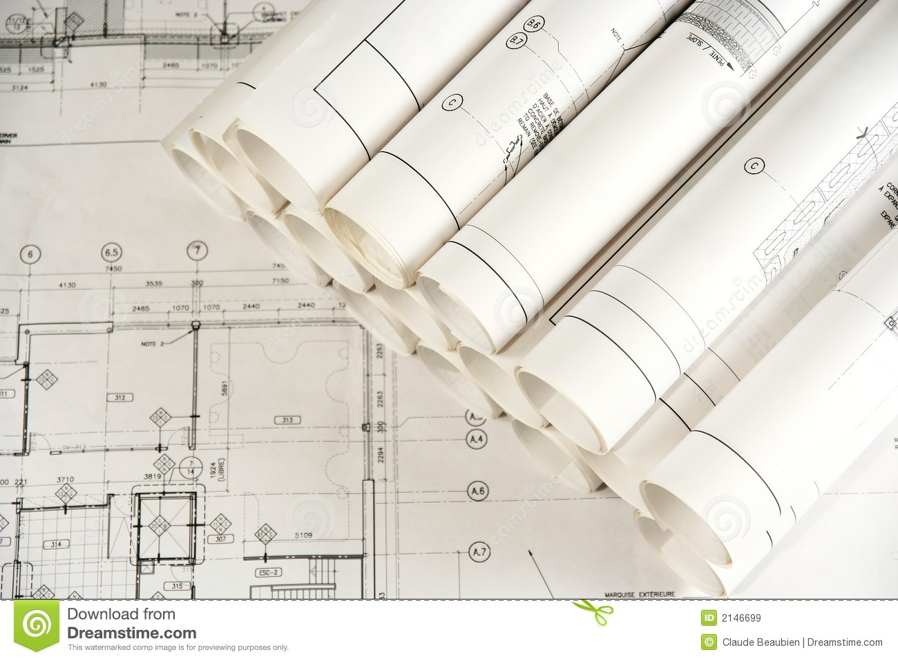 Architecture drawings 2 stock image image of measure for Free online architecture design